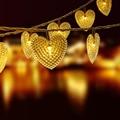 30LED Solaire Amour Coeur Guirlande Lumineuse De Mariage Fête De Noël lumière solaire Décorative intérieure extérieure étanche Lanterne lampe De Fée|Lampes solaires LED| |  -