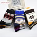 2016 Autumn Winter Cotton Men's Socks Casual Stripe Geometric Man Breathable Sock Fashion Male Business Socks 5pairs/lot