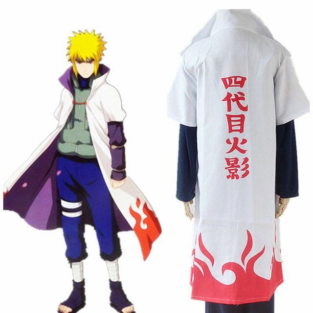 Naruto Cosplay naruto Hokage Manto 4th Robe Branco Capa de Poeira Casaco Unissex Quarto Hokage Namikaze Minato Manto Uniforme