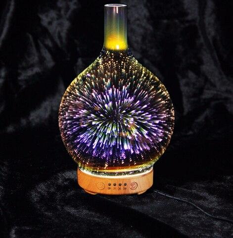 colorido luz magica 3d vidro led night