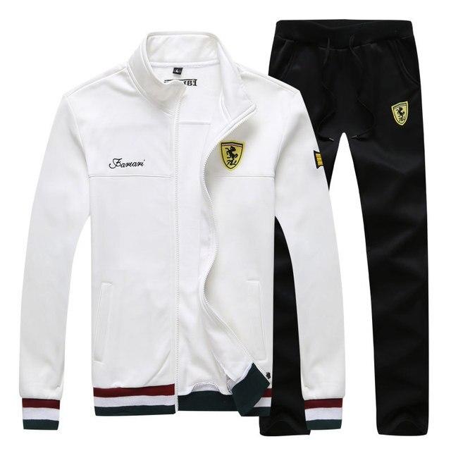 Long Sleeve Stand Collar Sweatshirt Sports Set