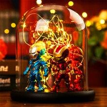 Marvel Super Hero Spider LED  Table Lamp Iron Man Hulk Deadpool Night Light Multicolor Christmas Decor Kids Gift Toys
