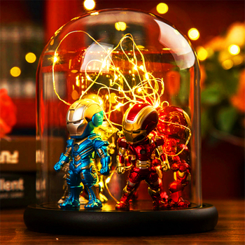 Marvel Super Hero Spider LED  Table Lamp Iron Man Hulk Deadpool Night Light Multicolor Christmas Decor Kids Gift Toys