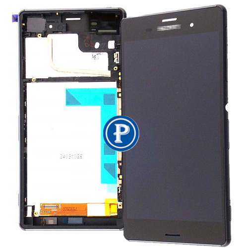 2 Sim Version For Sony Xperia Z3 Dual D6633 D6683 Complete lcd with touchpad and frame front housing Assy in Black OEM