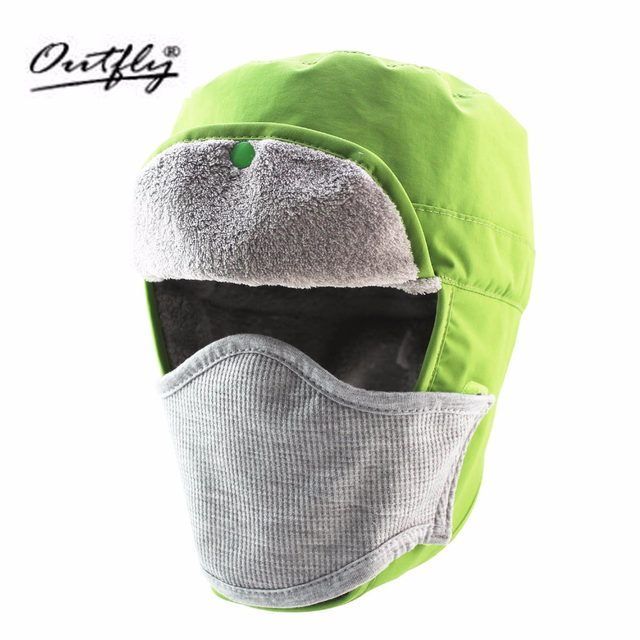 501e65f710c Outfly Autumn and winter caps hats outdoor removable masks waterproof and  rainproof hat snow to prevent the wind sand warm hat