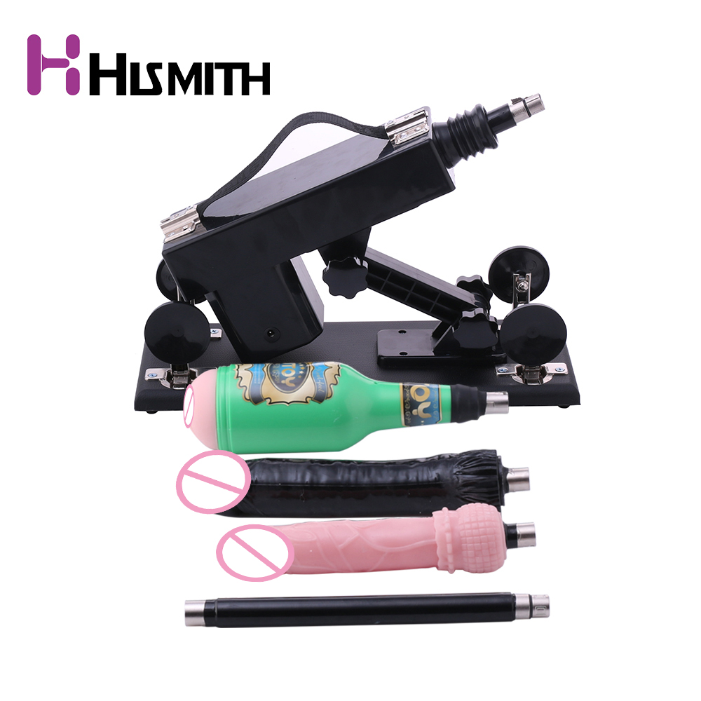 HISMITH Sex Machine for Women Masturbating Pumping Sex Gun Adjustable Speed Love Machines for Women with Vagina Cup Sex Products