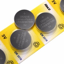 50PCS/lot=10 packs CR2016 BR2016 LM2016 DL2016 KCR2016 CR-2016 3V Lithium Button Cell Coin Battery for watch,XINLU battery