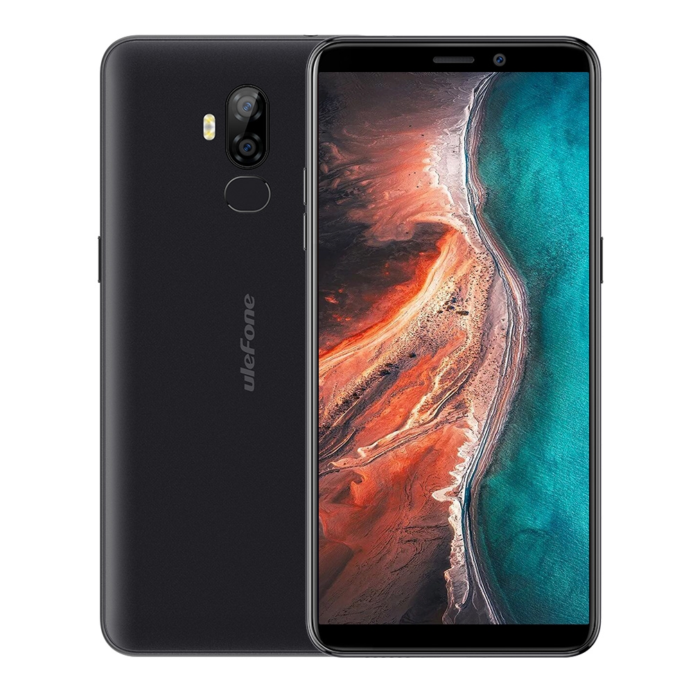 "Ulefone P6000 Plus Mobile Phone Android 9.0 Cellphone 6.0"" HD Screen MTK6739WW Quad Core 3GB+32GB Face ID 6350mAh OTG Smartphone"