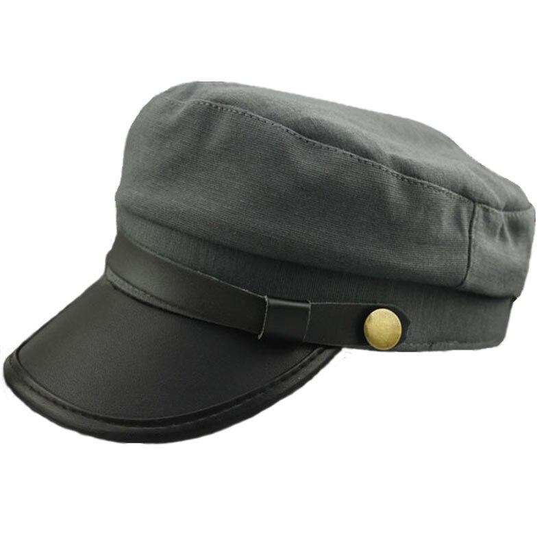 Unisex militar marinero de sombreros gorras superior plano militar ... 85ea8d9aa3b