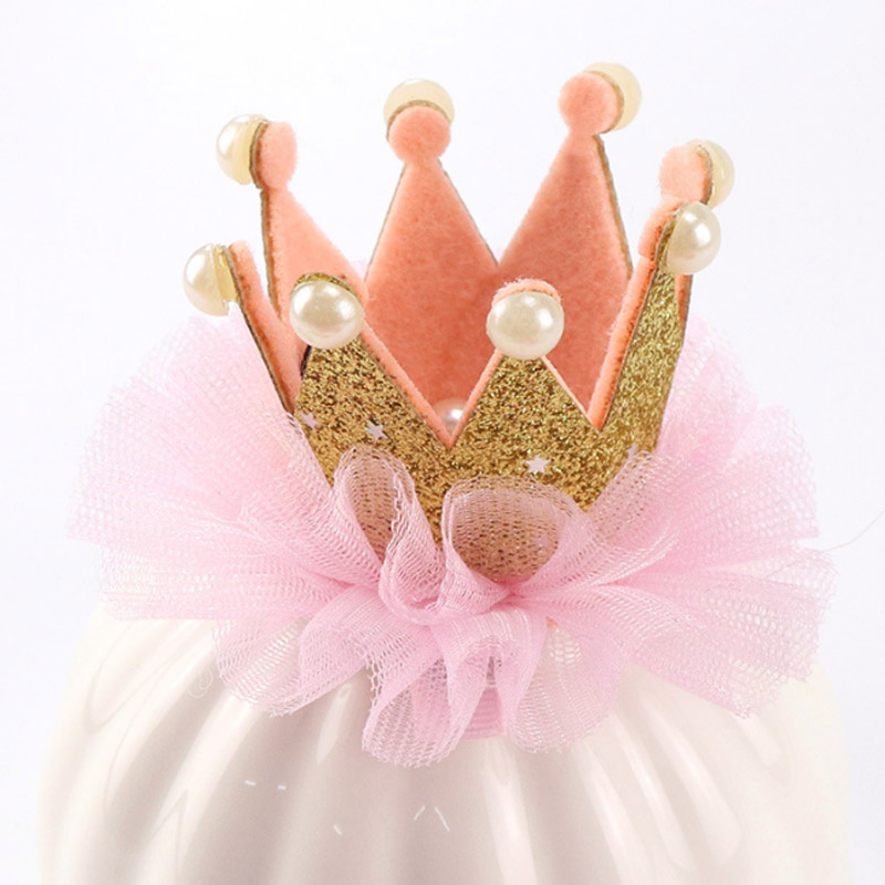 Купить с кэшбэком Sale 1PC 2018 Fashion Crown Children Headwear Princess Hair Clips kids Hairbands Hair Accessories girls hairgrip