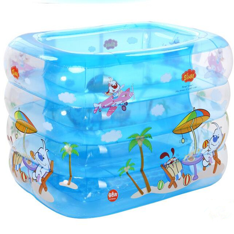 17 Baby Swimming Pool Inflatable Square Blue Eco-Friendly PVC Baby Pool Infants and Children's Wading Pool Large Swimming Barrel thickened swimming pool folding eco friendly pvc transparent infant swimming pool children s playing game pool