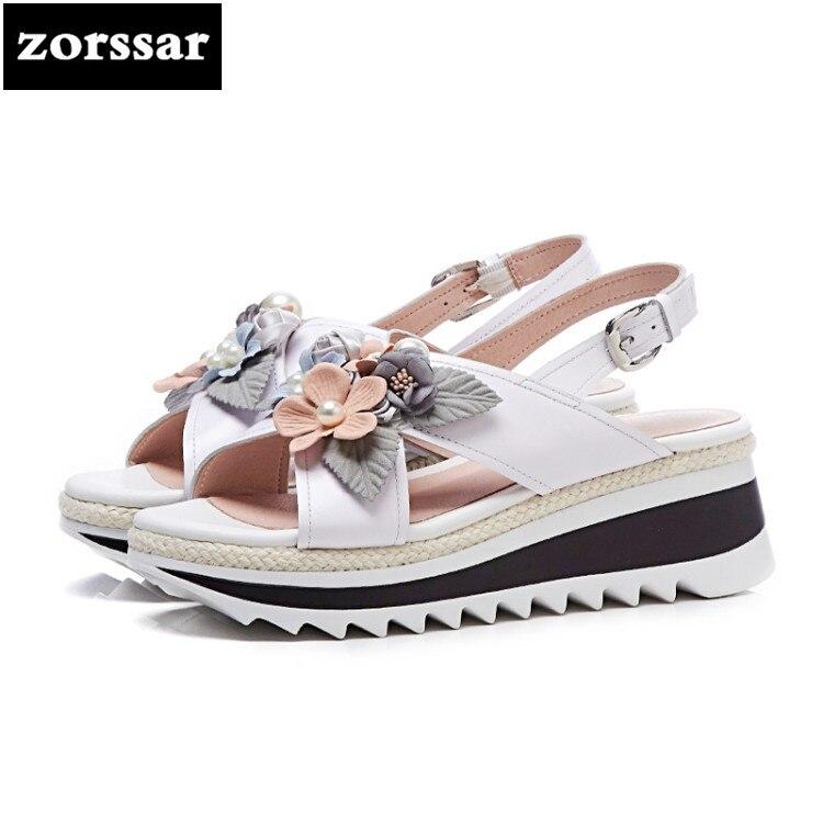 7f11ee23fcb3e  Zorssar  2018 Fashion flowers Summer shoes Women Sandals heels shoes Open  Toe Platform Sandals