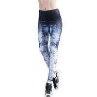 2018 Polainas de Ropa Deportiva de Impresión Leggings Mujeres Sexy Leggins Legging Ropa Americana de Cintura Alta Pantalones de Entrenamiento Deportivo Activo