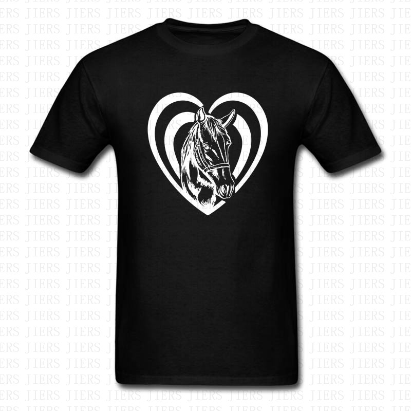 8442934cdc1 Fashion Horse Heart T Shirt Men Women Love Horse Graphic Country Cowgirl  Gift Soft Short Sleeve O Neck Shirts Brand Clothing