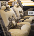 4pcs Luxury winter Warm Plush universal Leopard Car Seat Covers Front and Rear Seat Covers