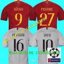 f3db6b557 DZEKO PEROTTI PASTORE soccer jersey rome TOTTI jerseys 18 19 football shirt  Champions league DE ROSSI