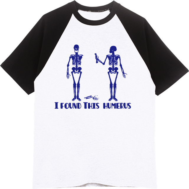 5f89d040 Men Cotton Raglan Sleeve T-Shirt Novelty I Found This Humerus Funny  Skeletons Print T-shirt Casual Cool Tshirt Tees Tops