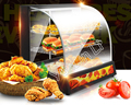 Шкаф для сохранения тепла еды  коммерческая машина для согревания еды  готовая еда и пирожные  долговечная витрина для сохранения тепла