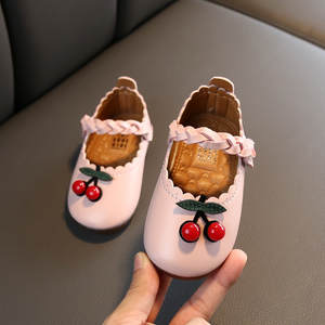 Shoes Toddler Cherry Girl Baby Child Princess Lace Soft-Bottom Small Autumn -Lr3 Casual