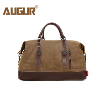 AUGUR Messenger Bag Men Leather Big Travel Bags Canvas Soft Handbags Vintage Fashion Male Large Capacity Luxury Shoulder Bag