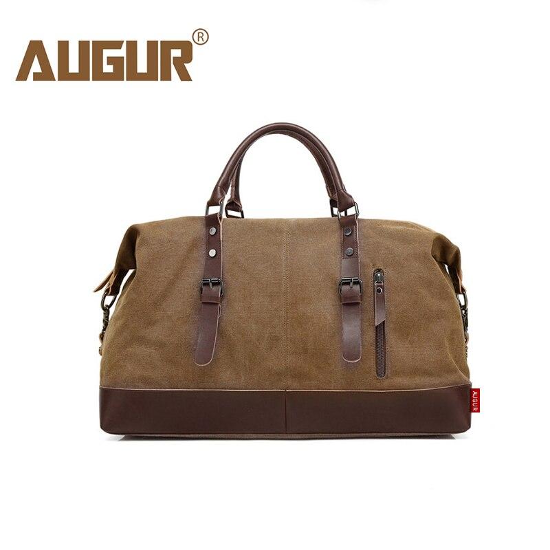 AUGUR Messenger sac hommes en cuir grands sacs de voyage toile sacs à main doux Vintage mode mâle grande capacité luxe sac à bandoulière