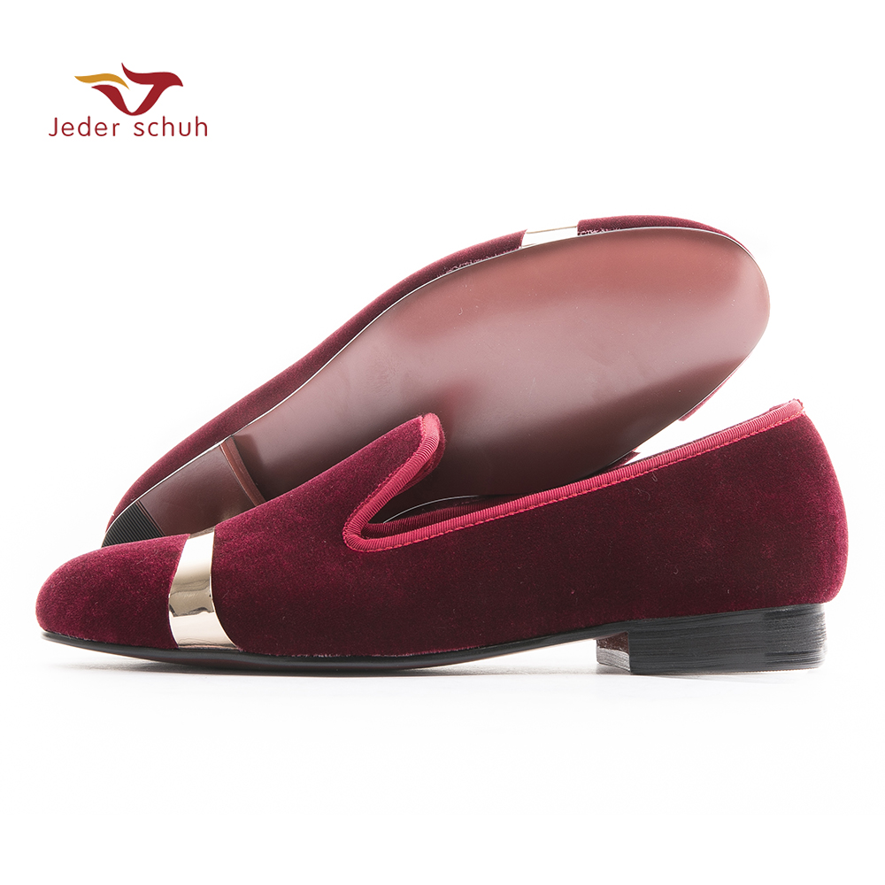 2017 Velvet men loafers with copper buckle smoking slipper men flats fashion casual  size US 6-14 free shipping
