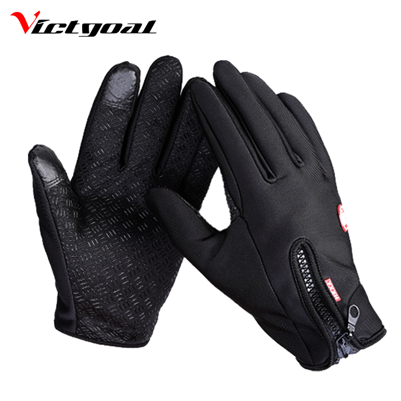 VICTGOAL Antivento Ciclismo Finger Gloves Completa Touch Screen Uomo Donna Guanto MTB Bike Moto Impermeabile Guanti Sportivi N1202