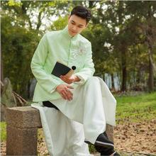 Men clothing In Republic of China antique costumes film television Stage dramas young Masters Long Tang Suits Jacket + Robe