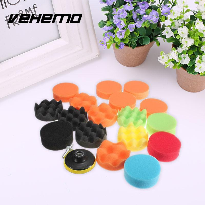 2018 Car Polishers Sponge Pad 19Pcs Polishing Cleaning Tool M10