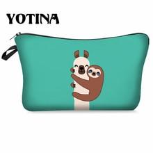 Yotina Makeup Bag Women Cosmetic With Multicolor Pattern  llama 3D Printing neceser Toiletry Travel makeup Organizer