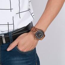 BOBO BIRD Wooden Watches Men Natural Wood Strap Handmade Japan Movement Quartz Wrist Watch Luxury Mens Gifts relogio masculino
