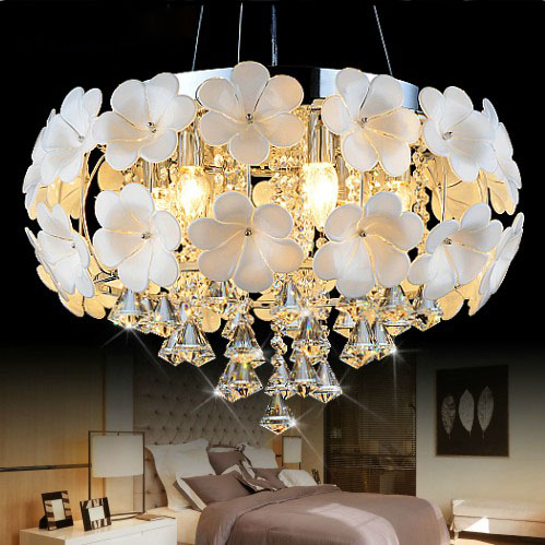 A1 Master bedroom living room lamp crystal Pendant Lights dining room lamp European style Dual-use fashion Pendant lamps white crystal pendants chandeliers lights vintage pendant lamp for living room bedroom europe style pendant lamps home lighting