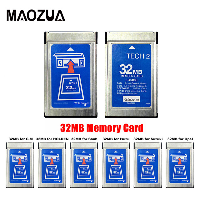 Top Quality For G-M Tech 2 For SAAB Tech2 with 6 Software 32MB Card for Opel/Isuzu/Holden/Suzuki Memory Card Car Diagnostic-tool