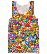 2016 summer New fashion Mens/Womens Tank tops Cartoon Original 150 Pokemon 3D Print casual vest free shipping plus size S-XXXL