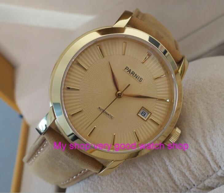 где купить 41mm Parnis Sapphire Crystal Japanese 21 jewels Automatic Self-Wind Movement Mechanical watches 5Bar Men's watch tl8 по лучшей цене