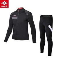 Мужской набор велосипедных Джерси зимний термальный флисовый комплект одежды для велоспорта Santic MTB Джерси Спортивная одежда для велосипед