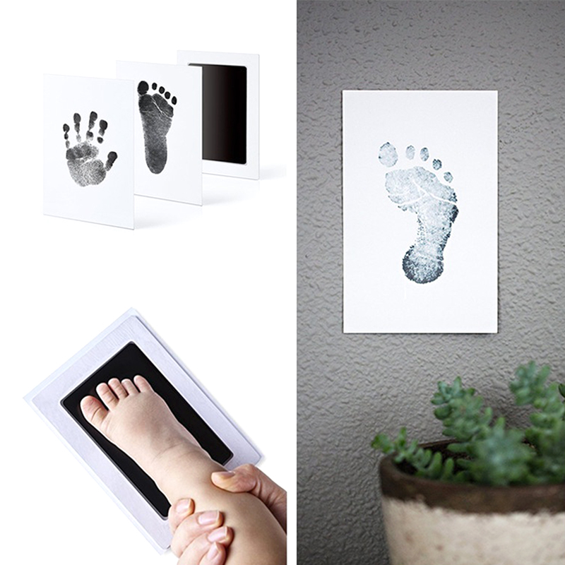 Clean Inkless Touch Ink Pad Toddler Safe Non-toxic Footprint Handprint Ink Pads Fashion Smart Mom Baby Items Souvenir