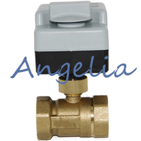 AC220V G11 4 BSP DN32 Brass 2 Way Manual and Automatic Motorized Ball Valve Electrical Actuator