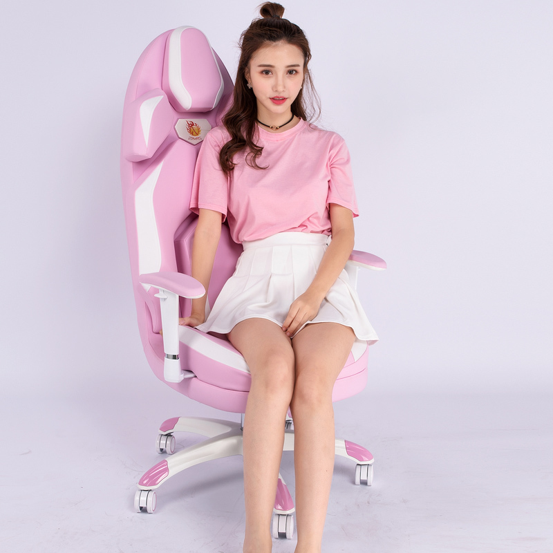 Temperament European Main Sowing Princess Fashion Color Computer Game Competition Direct Seeding Lift Chair(China)