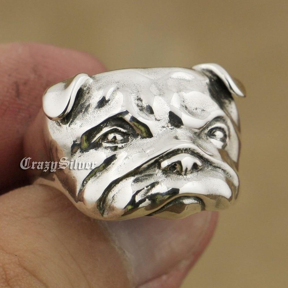 купить 925 Sterling Silver Cute Shar Pei Charms Dog Ring TA33A US 7~15 онлайн