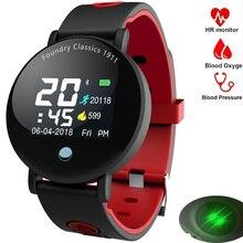 Montre intelligente hommes femmes moniteur de fréquence cardiaque podomètre de pression artérielle en cours d'exécution Tracker Sport montre intelligente pour Androd IOS