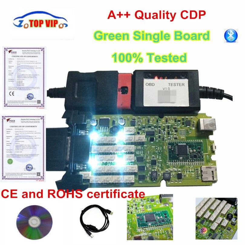 + + Качество Зеленый одноплатный CDP PRO низкая цена TCS CDP bluetooth 2015 r3 с кейген программного обеспечения новый VCI TCS CDP Pro сканер