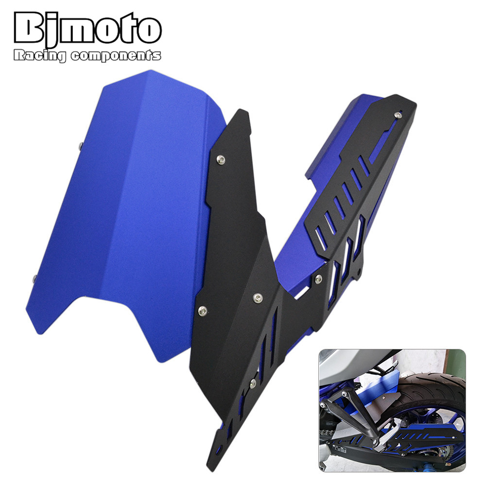 Bjmoto Motorcycle Rear Tire Hugger Fender Mudguard Chain Guard Cover For Yamaha YZFR25 YZF R3 MT