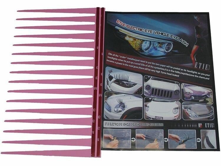 Headlight Sticker Car Eye Lash Funny Car Eyelashes For Car