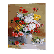 WONZOM Blooming Flowers Vase Painting By Numbers DIY Canvas Art Digital Wall Picture Coloring Number Artwork For Room Gift