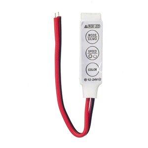 Image 2 - 50 יחידות מיני RGB בקר 12 v 6A 3 מפתחות עבור 5050 3528 RGB LED רצועת אור 19 מצבים דינמיים ו 20 סטטי צבע משלוח חינם