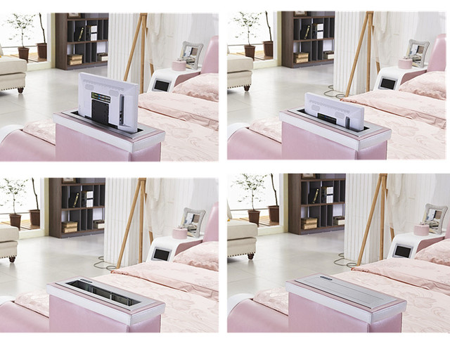 Real Genuine leather bed TV Soft Beds Bedroom camas lit muebles de dormitorio yatak mobilya quarto massage speaker bluetooth 3