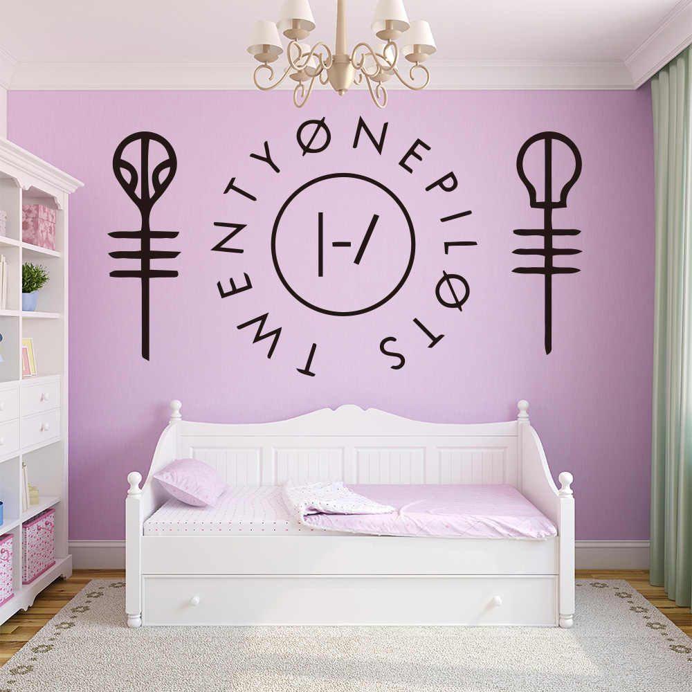 Funny twenty one pilots Wall Sticker Home Decor Decoration Nursery Room Decor For Kids Rooms Diy Home Decoration