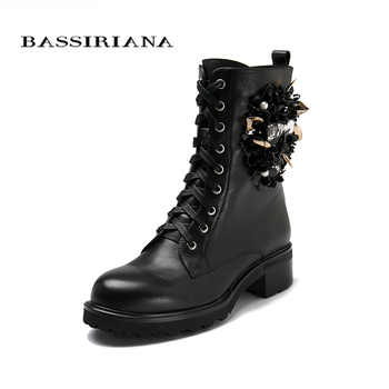 Shoes woman genuine leather ankle boots, flats shoes,  Autumn boots Suede leather 35-40 lace-up Free shipping BASSIRIANA - DISCOUNT ITEM  55% OFF All Category