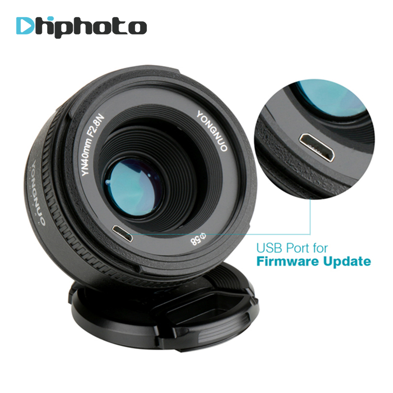 YONGNUO YN40mm F2 8N Lightweight Standard Prime AF/MF Auto Manual Focus  Camera Lens for Nikon D7200 D5300 D5200 D750 DSLR Camera